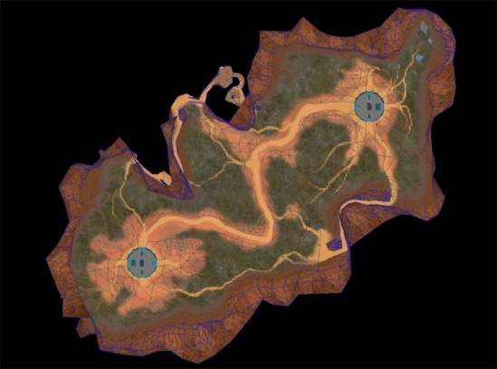 Halo Blood Gulch Map Overview