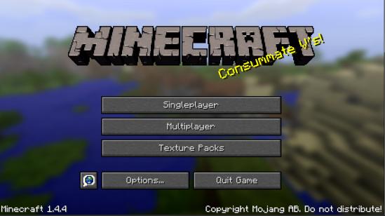 Minecraft Opening Screen